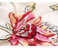 LINGJUN Colorful Cassa del Fiore Stampa Divano Lounge Copridivani Stretch Home Elastico Arms Hotel Mobili di Protezione (Fiore rosa, 4 posti 235-300cm)