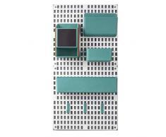 AERVEAL Scaffale portaoggetti, Combinazione Pannello Forato per Montaggio a Parete Fornitura per Organizer per scaffalature per la Cucina di casa