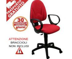 Sedia ufficio operativa Axe Cadrega 5 Star rosso mattone 95-107 cm