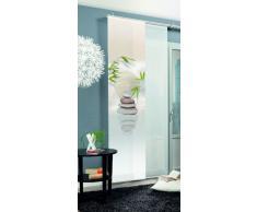 Home Fashion 87406-711 Benessa - Tenda a Pannello con Stampa Digitale su Tessuto Decorativo, con binario di scorrimento e guide, 245 x 60 cm, Colore naturale