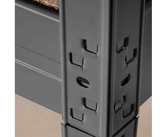 Scaffale metallico Office Marshall® Mammut | Carichi pesanti | Certificato TÜV/GS | Scaffale acciaio | Capacità di carico 875 kg o 1400 Kg | Grigio, 220x90x60cm