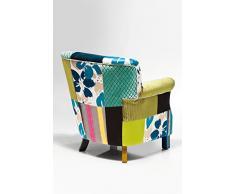 KARE Design - Poltrona Patchwork con braccioli, Stile retrò, 76 x 66 x 74 cm