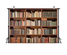 LYWYGG 7X5FT Scaffale Scaffale Libreria Vintage Libri Magici Grunge Antico Biblioteca Vinile Fotografia Sfondo Photo Studio Puntelli CP-49