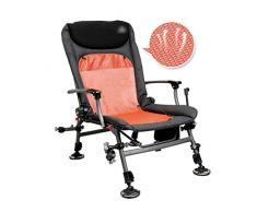 GZW001 Sedia da Pesca Pieghevole Multifunzionale reclinabile Poltrona da Esterno a Sdraio (Color : Orange, Size : 55 * 84 * 60CM)