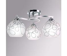 Minimalista vetro studi soffitto Lampadario da soffitto in stile moderno per soggiorno, camera da letto, sala da pranzo da soffitto moderno 3 lights