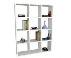 Alphamoebel - Parete attrezzata soggiorno Libreria Ultimate, colore: Bianco