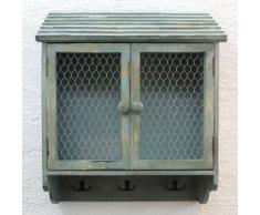 Armadio a parete 48cm Loft 12076 Armadio Scaffale a parete Vintage Shabby Ganci-guida Ganci