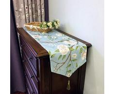 MICOKY Tovagliolo da Salotto in Cotone Country Art TV Mobile Moderno Semplice tavolino Copri Asciugamano tovaglia 30 * 270