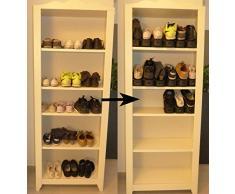 Home/CO – Rack di scarpa due volte maggiore risparmio di spazio guadagno di Place, Scaffale di Scarpa, ordinato il tutto, regolabile, si supporto permette di impilare vostre scarpe nel vostro guardaroba, armadi, Guardaroba,
