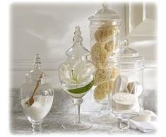 (Set di 4) Vasi Farmacista / Buffet Caramelle / Centrotavola Matrimonio Grande Classico in Vetro Trasparente - MyGift Home