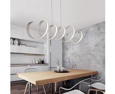 L900 Lampadari x W245mm alluminio ha condotto la luce per la sala da pranzo lampadario sala studio, 85-265V lampadario , warm white