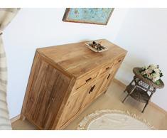Buffet 4 ante mobile soggiorno in legno TEAK naturale massello - Collezione Natural Chic 2015
