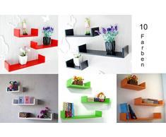 3 ha stabilito Design Mensola Per libri CD Scaffale Cubo in diversi colori Dekowuerfel NUOVO - verde