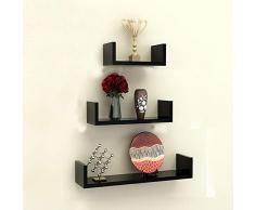 Mensole Da Parete Per Lettore Dvd : Scaffali porta cd color nero da acquistare online su livingo
