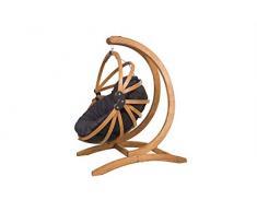 MIO-GIARDINO poltrona sospesa Gaya con comodissimo cuscino e supporto in legno ALTA QUALITA,