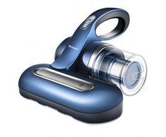 Mamibot Bed Cleaner Dust acari Aspirapolvere portatile senza fili, lampada anti-virus UV tipo U, lampada germicida con potente aspirazione, filtrazione HEPA avanzata per letti cuscini, divani, tappeti