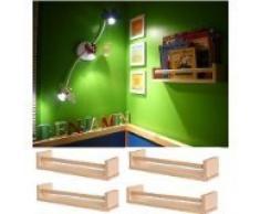 """IKEA-Set di 4 portaspezie in legno, motivo """"Nursery-Supporto per libro da cucina Kids-Mensola-Bathroom Accessory-Organizer portaoggetti-in legno di betulla naturale, BEKVAM"""