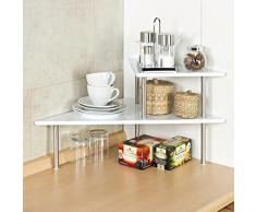 bremermann® mensola angolare per la cucina, mensola porta spezie, colore bianco