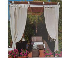 Tenda Idrorepellente,Impermeabile, Antimuffa, per Esterno con Passanti, Tenda Ideale per Giardino,Gazebo,Balcone, 160 x 270 cm