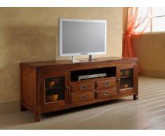 MaisonOutlet Mobile Porta-Tv stile etnico moderno in legno massello di Teak realizzazione artigianale