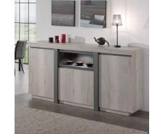 Credenza Moderna Grigia : Credenze in legno color grigio da acquistare online su livingo