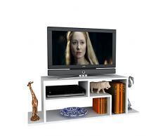 FAGUS Mobile TV - Bianco - Porta TV Lowboard - Set Soggiorno in un design moderna