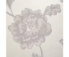 Linder 0968/15/375FR - Tenda con Occhielli, in Jacquard Cheverny 140 x 260 cm, Colore: Beige e Grigio