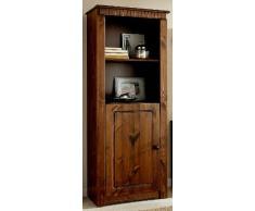 Scaffale in stile coloniale colori con porta in legno di pino; Vetrina, armadio
