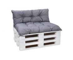 Cuscini per pallet, cuscini per divani in pallet, cuscini per sedie,cuscini per pallet economici, cuscini da giardino, cuscini impermeabili (grigio, Cuscini set:120x80+120x40cm)