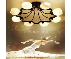 Personalità Creative ferro fiori Led luce da soffitto elegante lounge elegante luce per l arte del vetro Camere Ristorante lampade