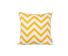 Dongguandong Comoco® - Set di 2 federe per cuscini, fantasia geometrica, tela decorativa per cuscini dei divani, Yellow, 60 x 60 cm