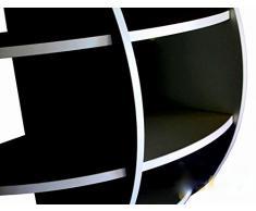 MENSOLA SFERICA DESIGN LIBRERIA SCAFFALE SALOTTO CAMERA NERA 80x80 NS-01030100