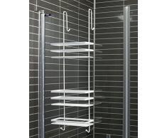 Mensola per doccia acquista mensole per doccia online su - Portasapone doccia senza forare ...