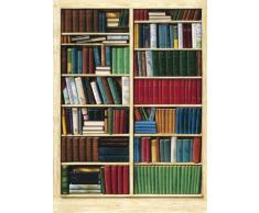 1art1 40581 - Poster da parati, 4 pezzi, 254 x 183 cm, immagine libreria
