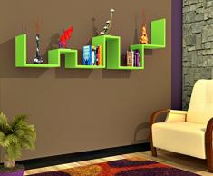LADDER Mensola da muro - Verde - Mensola Parete - Mensola Libreria - Scaffale pensile per studio / soggiorno in Design moderno