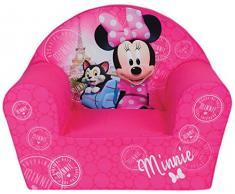 Fun House 712810 Disney Minnie Paris - Poltrona in schiuma per bambini, 52 x 33 x 42 cm
