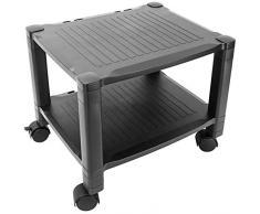 primematik - tavolino per stampante carrello con ruote con passacavi (ag061)