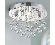 Bestier Moderno cristallo goccia di pioggia lampadario illuminazione a incasso LED plafoniera lampada a sospensione per sala da pranzo bagno camera da letto soggiorno 6 G9 LED Lampadine richiesto
