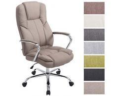 Clp sedia da ufficio xxl villach in tessuto poltrona studio con
