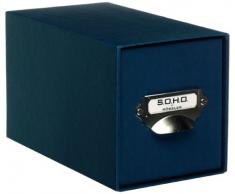 Rössler 1327452900 - Scatola porta CD, a tinta unita, colore: Navy
