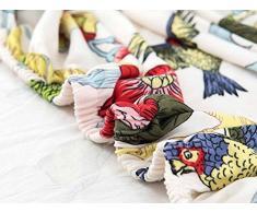 LINGJUN Colorful Cassa del Fiore Stampa Divano Lounge Copridivani Stretch Home Elastico Arms Hotel Mobili di Protezione (Fiore e uccello, 2 posti 150-185cm)