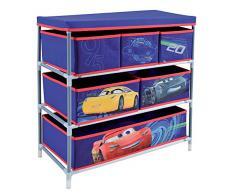 FUN HOUSE 712765 Scaffale con 6 scomparti/coperchio per bambini metallo/poliestere/cartone Blu 65 x 30 x 60 cm