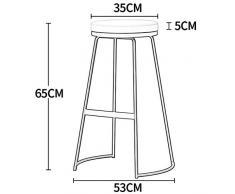 C-K-P Poggiapiedi vintage rotondo spugna pad cucina sedia da pranzo sgabello carico 150 kg gambe in metallo nero altezza: 65 cm (Colore : Gray)