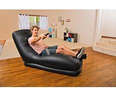 Intex 68585NP - Mega Lounge Poltrona gonfiabile, 81 x 173 x 91 cm, PVC, Nero