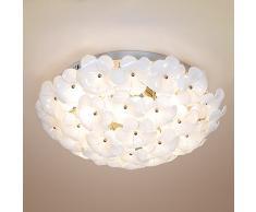 Moderno minimalista idilliaco Soggiorno Camera da letto lampada da soffitto Luce elegante fiori di vetro la creatività di petali Baiyu lampade Ristorante