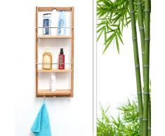 Relaxdays Mensole Doccia, bambù, Marrone Chiaro
