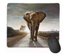 OKME Custom Tappetino per Mouse,Tappetino per Mouse da Lavoro per Elefante Africano Mobile Mousepad da Lavoro 25 * 30 Cm