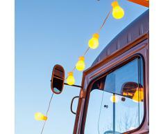 Catena luminosa con 30 luci LED a forma di lampadina, a luce bianca calda, per uso interno ed esterno - Lights4fun