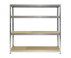 Scaffale in legno e metallo Joker in Kit - 200x70x200 cm - 450 KG A RIPIANO