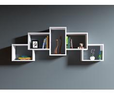 BOLD Mensola da muro - Mensola Parete - Mensola Libreria - Scaffale pensile per studio / soggiorno in Design moderno (Bianco)